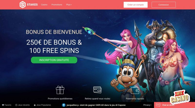 stakes casino accueil